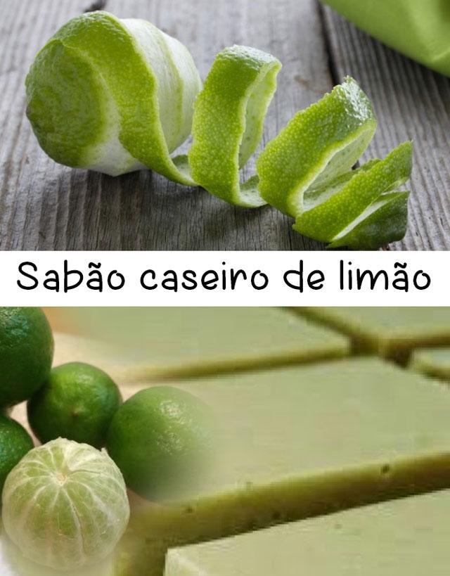 Sabão caseiro de limão